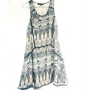 Trapeze Dress Asymmetrical Tribal graphic tank geo